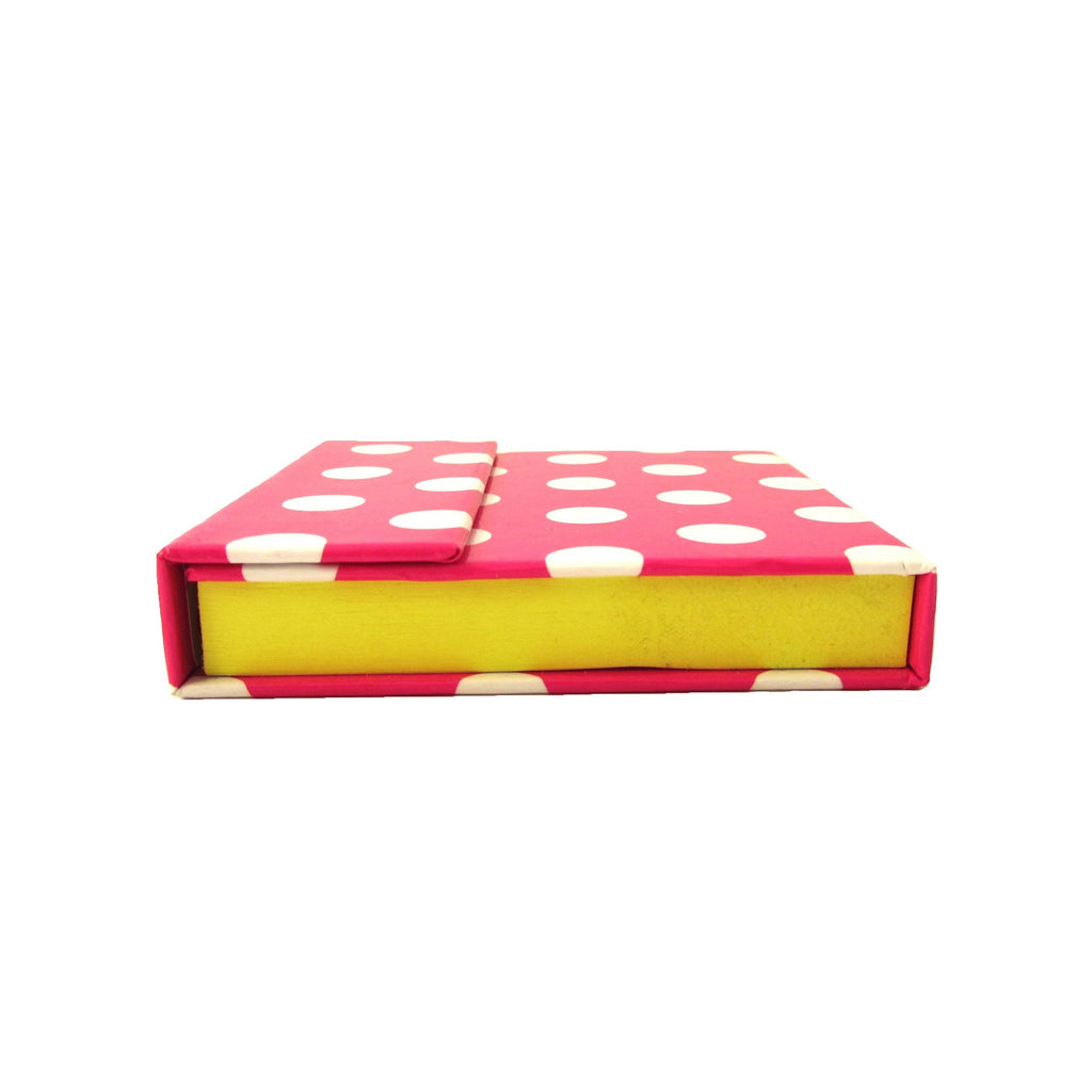 Pink Polka Dots Mobile Sticky Notes Top