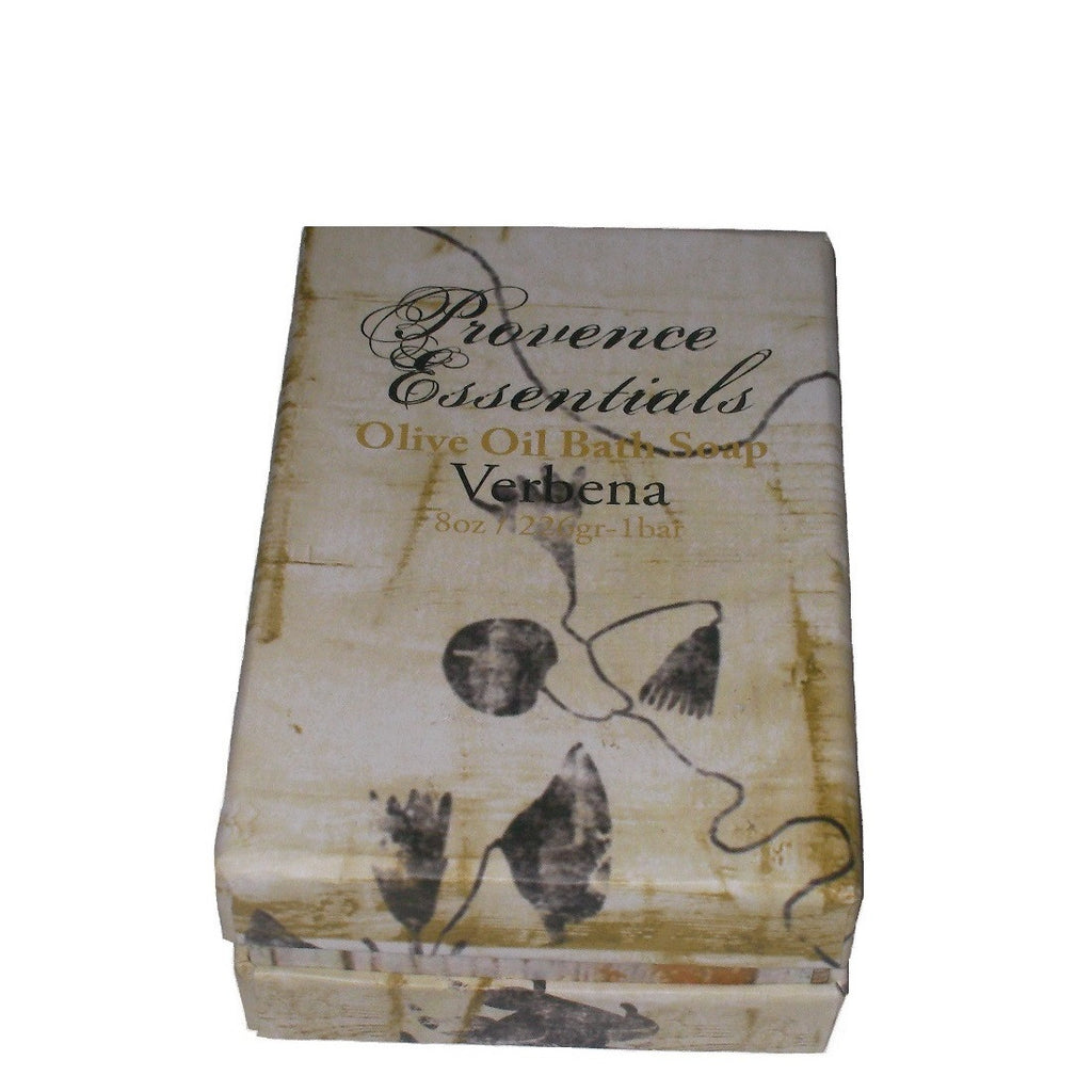 Scented Soap - Verbena Olive Oil Soap by Provence Essentials Angled View To Show Depth Of Box