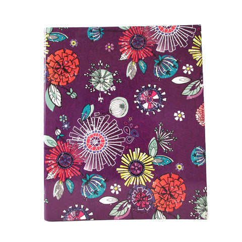 Purple Antique Floral Folder