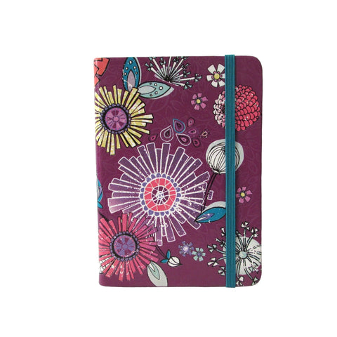 Purple Antique Floral Notebook