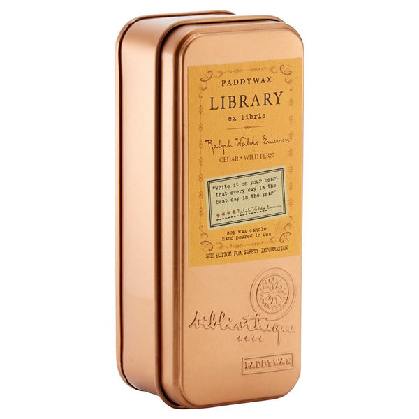 Paddywax Library Collection Two Wick Travel Tin - Ralph Waldo Emerson