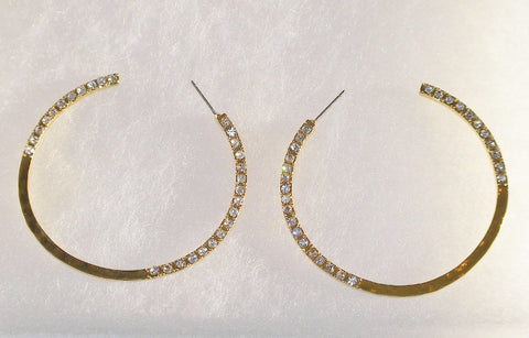Gold Plated Hammered Hoops by Robert Lee Morris