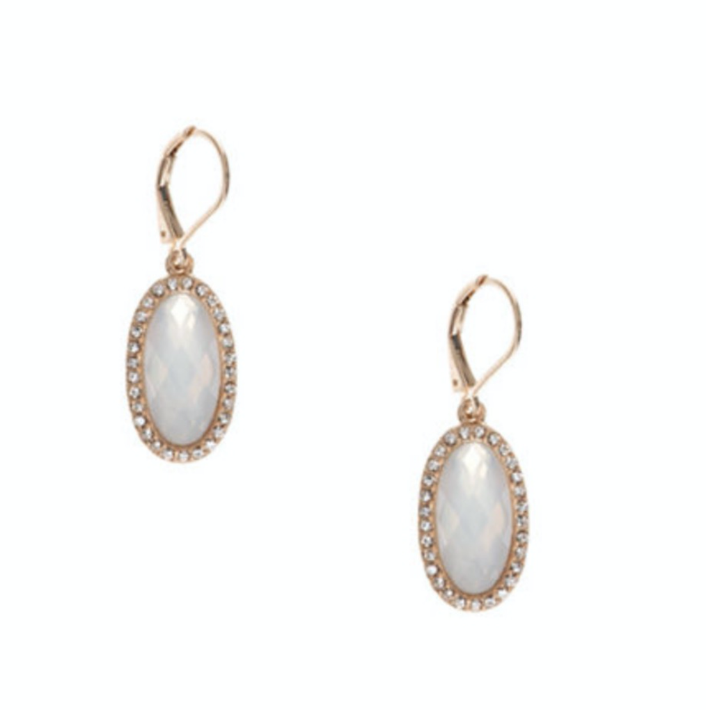 LONNA & LILLY Opal Pave Drop Earrings