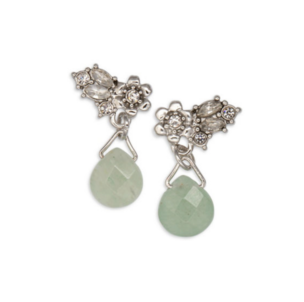 LONNA & LILLY Mint Green Sun Showers Stone Drop Earrings