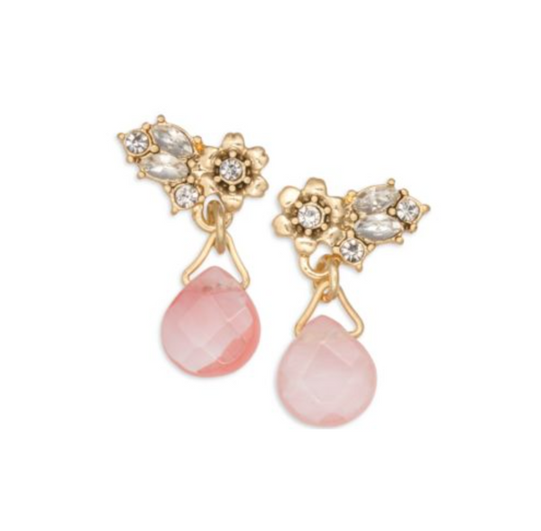 LONNA & LILLY Pink Sun Showers Drop Earrings