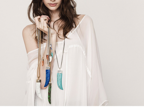 Jenny Bird Oversized Ivory Tusk Necklace