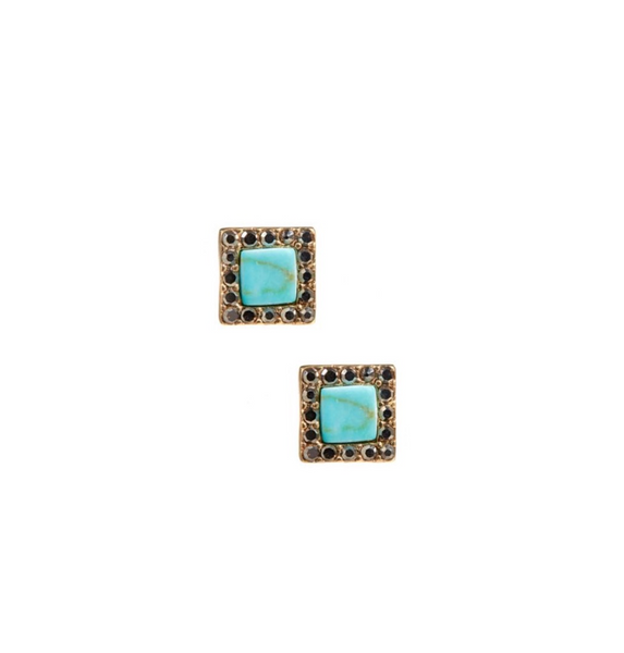KENSIE BLUE STONE ACCENT EARRING
