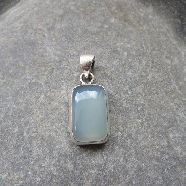 Sterling Silver Moon Stone Pendant  features a generous size rectangular Moonstone in Sterling Silver