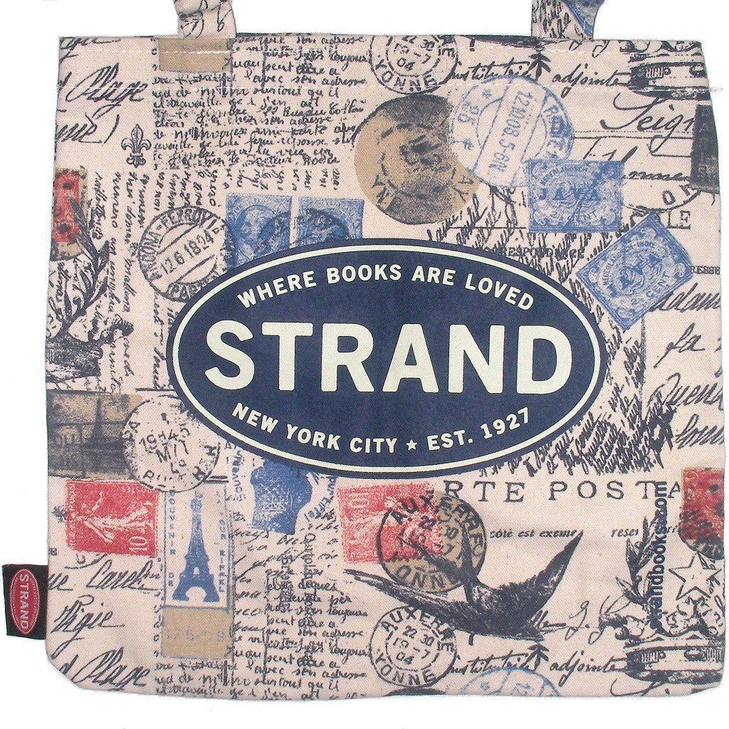 Studio Strand Paris Postage Tote Bag Closeup Of Print