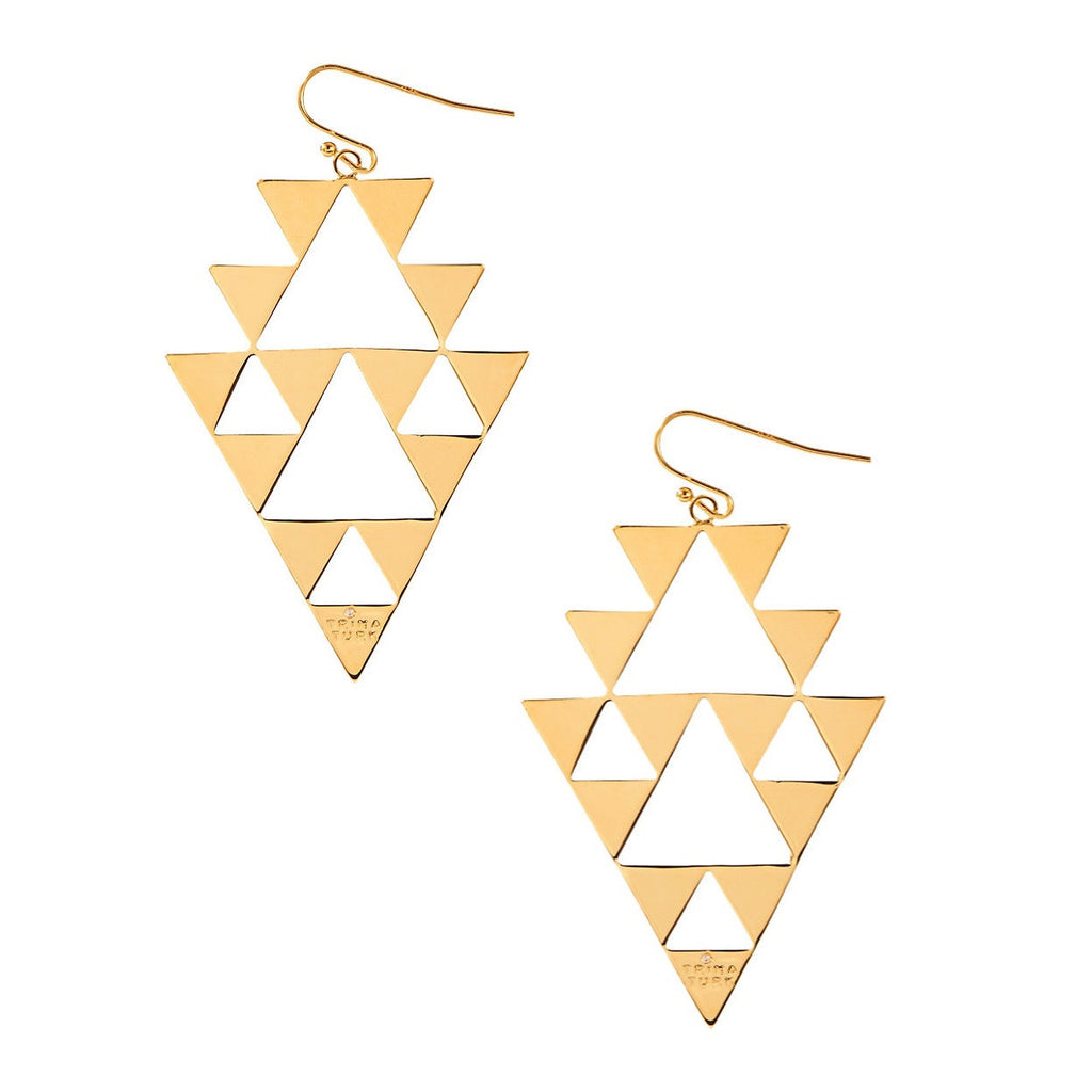 TRINA TURK Triangle Cutout Drop Earrings