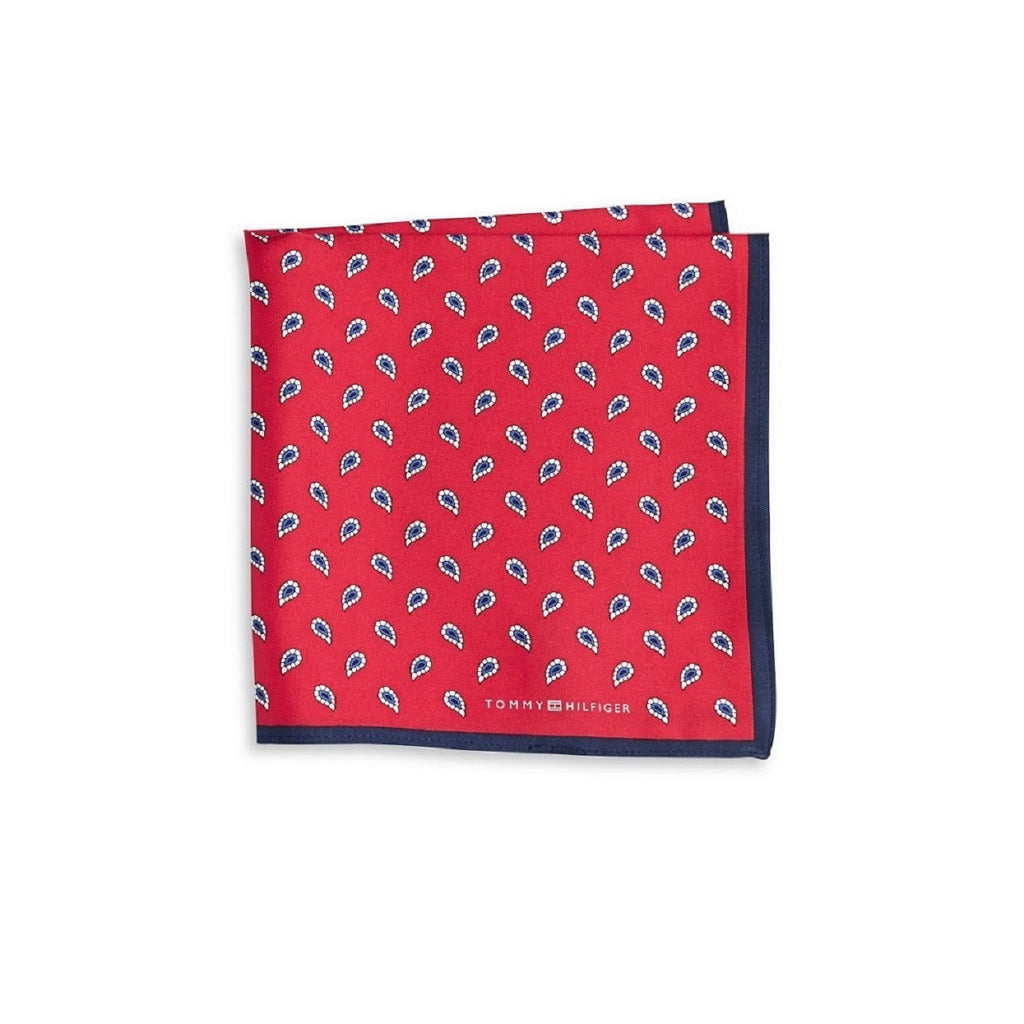 Tommy Hilfiger Pine Silk Pocket Square