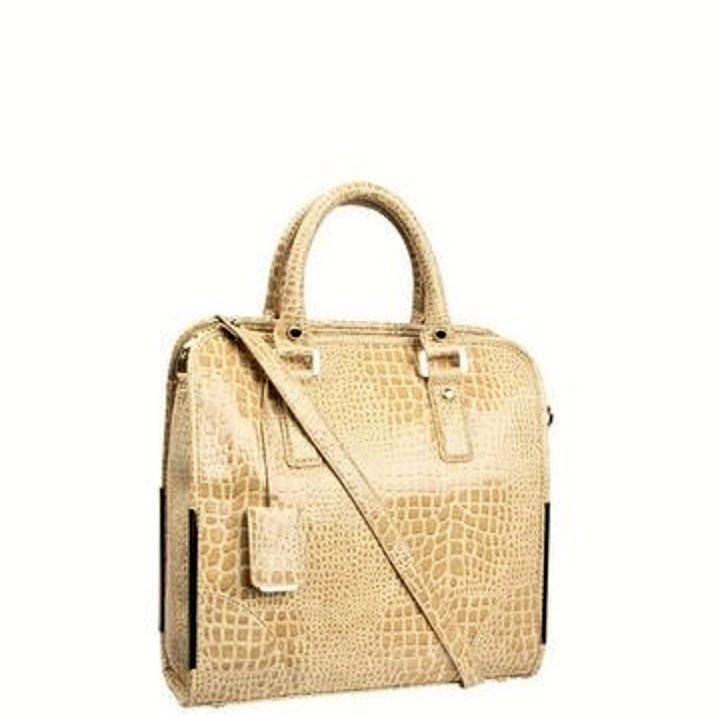 Ivanka Trump Crystal Top Handle Tote - Praline/Sand