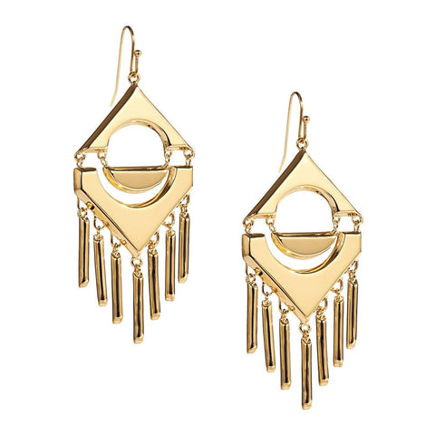 Trina Turk Gold Tassel Earrings