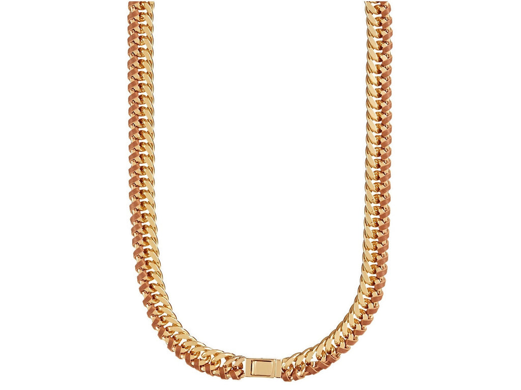 Trina Turk Leather Chain Necklace Closure
