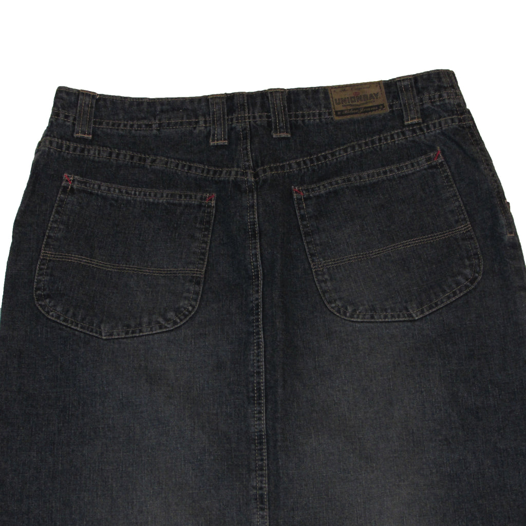 Unionbay Denim Skirt Reverse Side Closeup