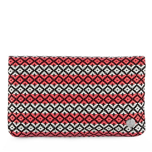 Vince Camuto Diamond Weave Leather Clutch