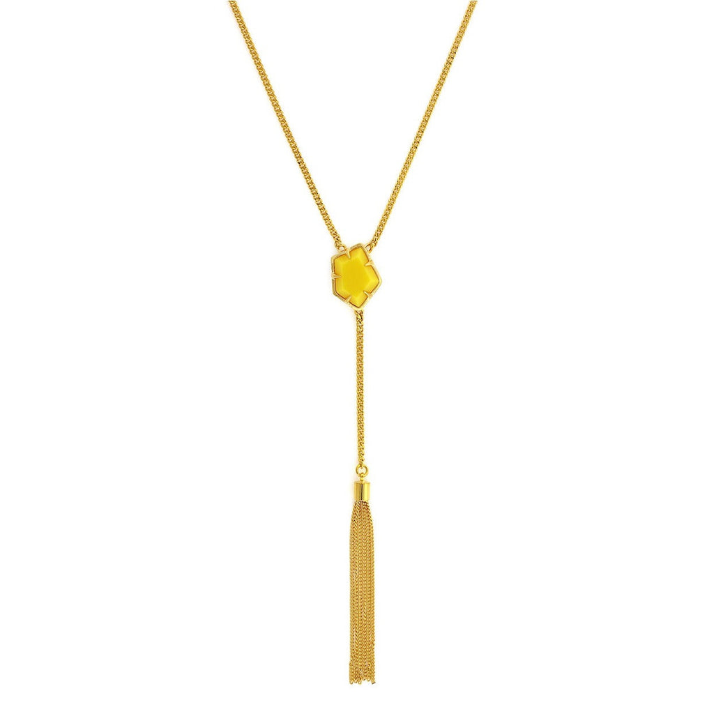 Vince Camuto Stone Center Tassel Necklace