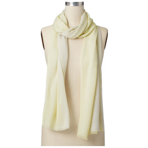 Ann Taylor Ombre Scarf in light Yellow and Grey with light fringe