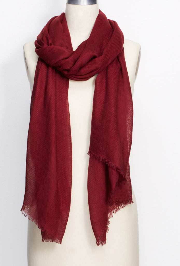 Ann Taylor Mixed Weave Scarf-Chianti Larger Picture