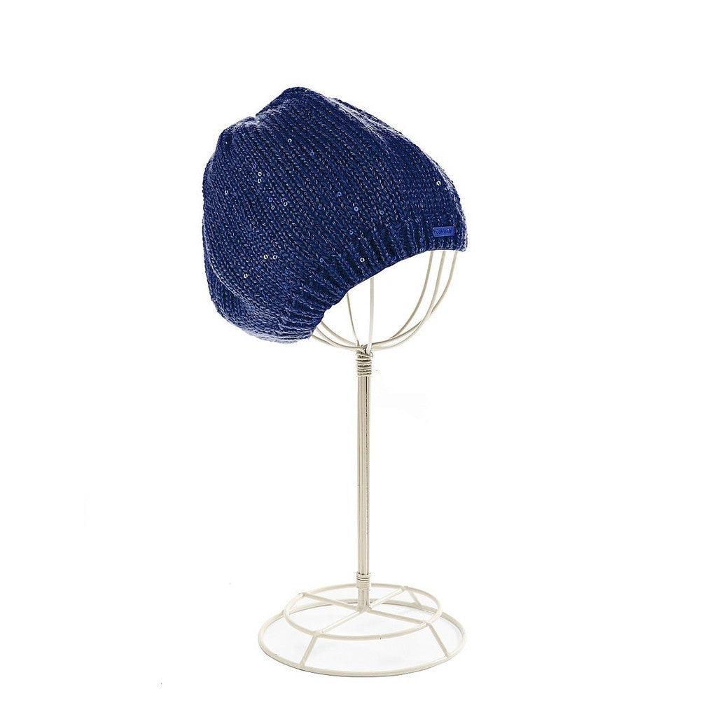 Calvin Klein Navy Sequinned Beret
