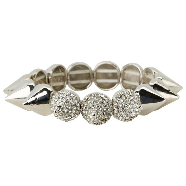 Cara Accessories Stretch Spike Bracelet