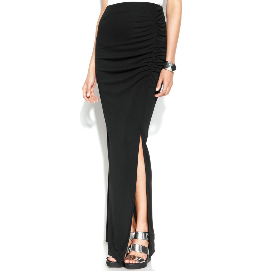 DKNYC City Icons Ruched Side Slit Maxi Skirt