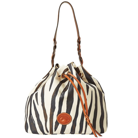 Dooney & Bourke Zebra Drawstring Bag