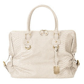 Furla Leather Corniola Ruched Top Handle Bag Side View