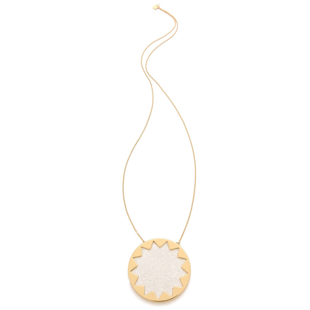 House of Harlow 1960 Embossed Sunburst Pendant Necklace