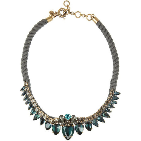 J.Crew Green Stone Necklace