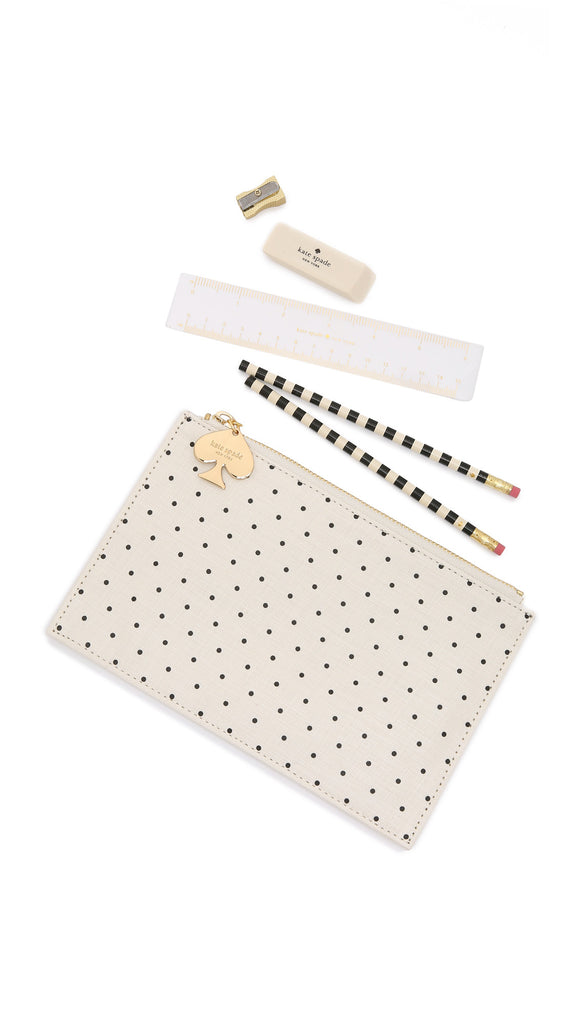 Kate-Spade-Deco-Dots-Pencil-Pouch-Pencils