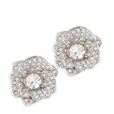 Kate Spade Crystal Flower Earring - Front and Side