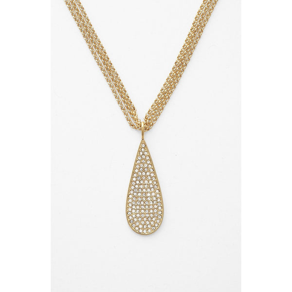 Lauren by Ralph lauren Gold Pavé Teardrop Pendant NecklaceCloseup