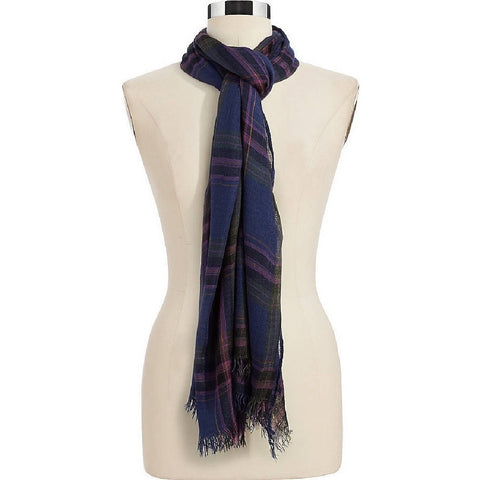 Lauen by Ralph Lauren Woven Plaid Scarf - Purple