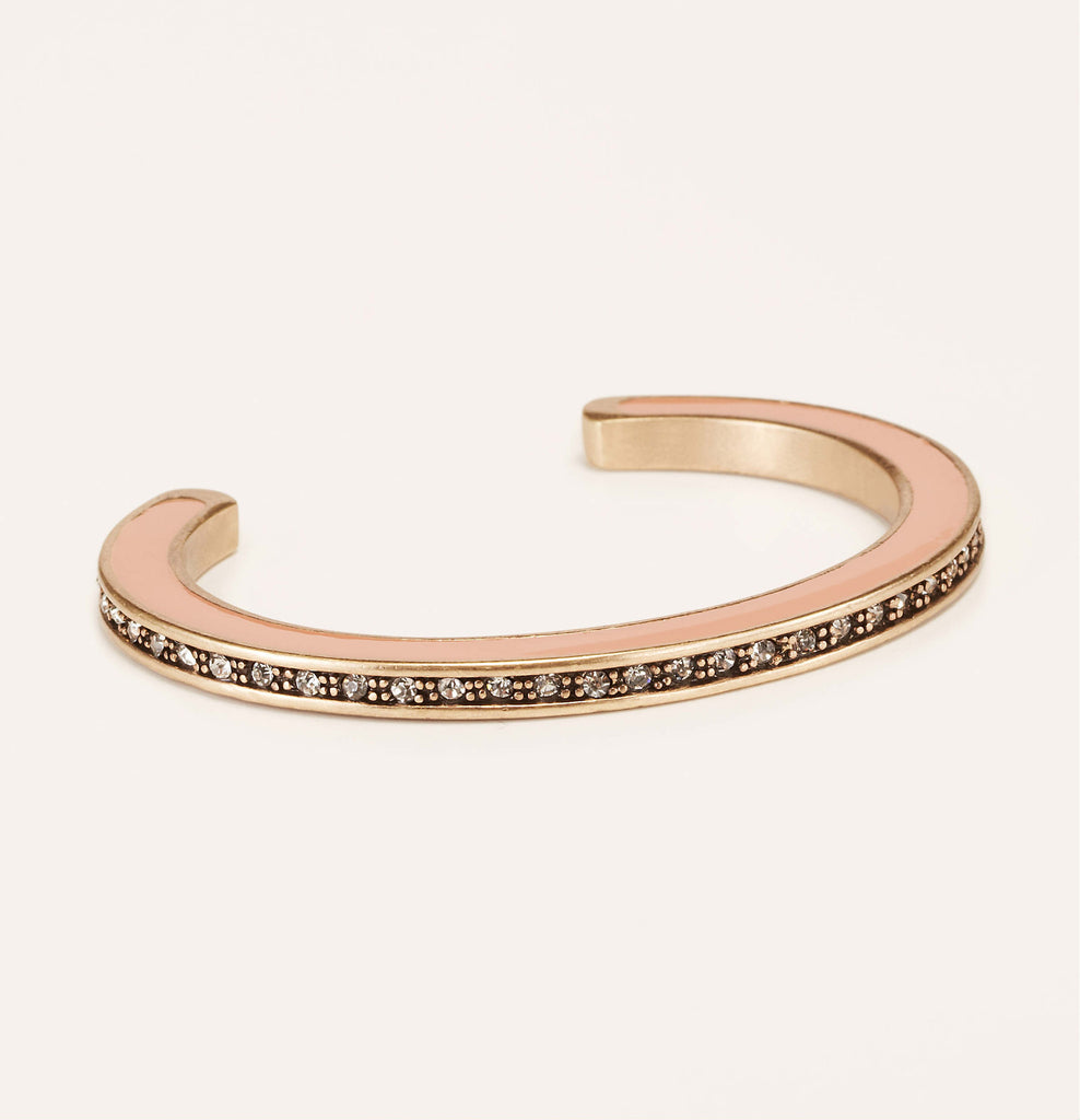 LOFT Enamel Pave Open Bangle-Rose