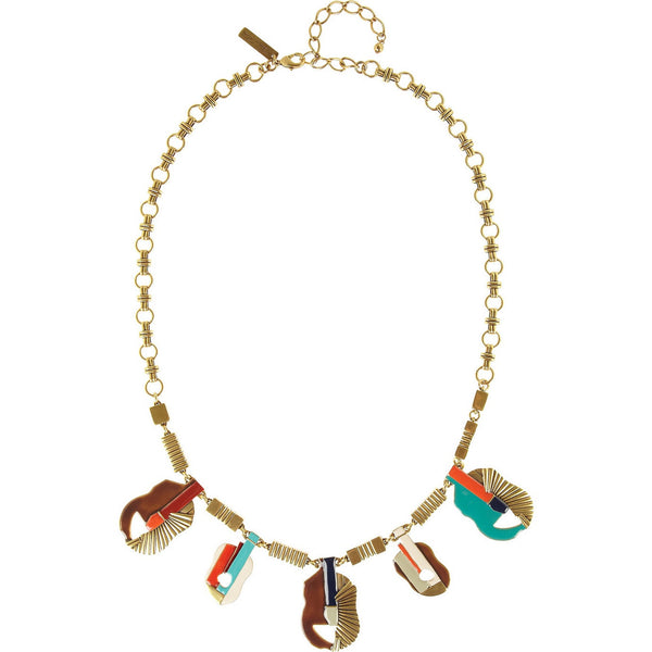 Oscar de la Renta Guitar Motif Necklace