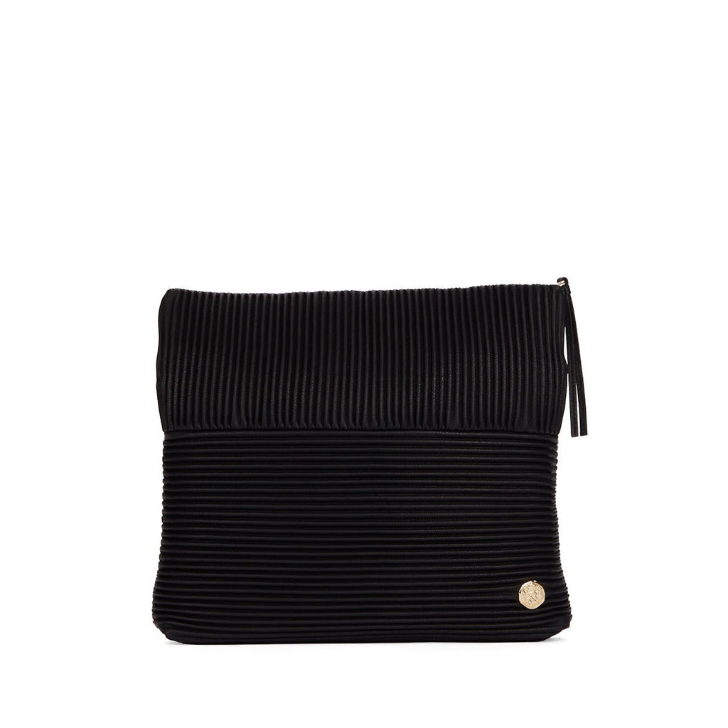 Vince Camuto Leather Ribbed Clutch - Unfolded