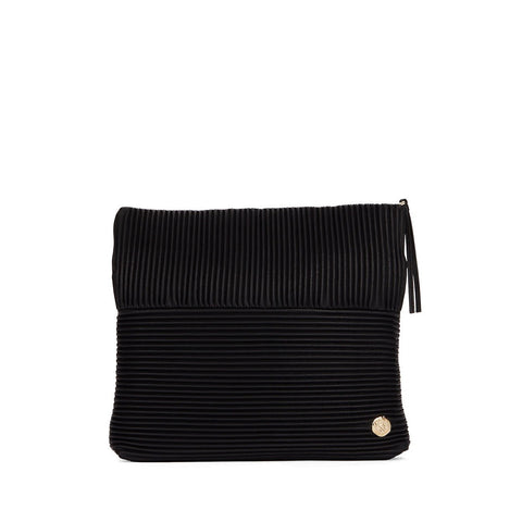 Vince Camuto Leather Ribbed Clutch