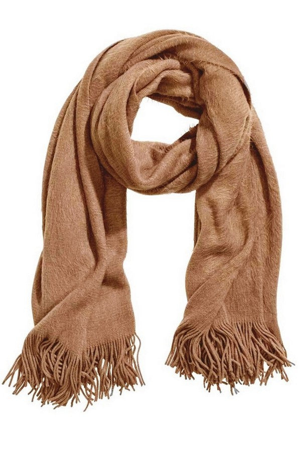 TAUPE FUZZY SCARF