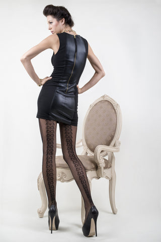 Backseam Ribbons Fishnet Tights