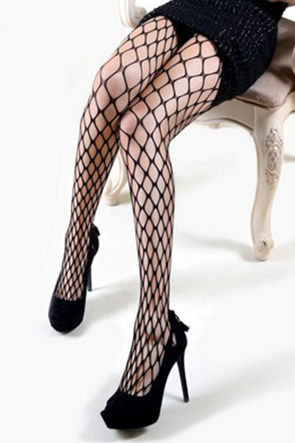 Alexis Wide Gauge Fishnet Tights