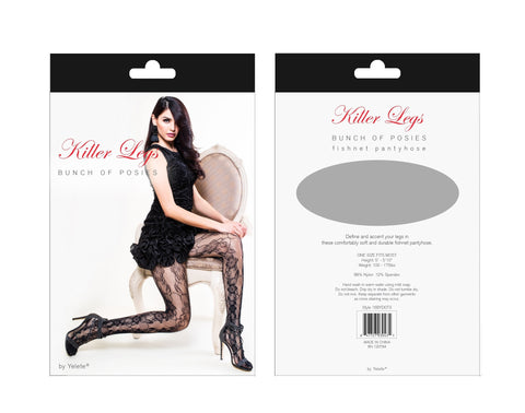 Back Seam with Boe-Tie Fishnet Tights