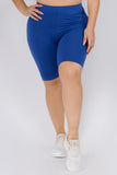 Plus Size Ultra Soft High Waisted Biker Shorts