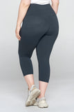 Plus Size High-Rise Essential Capri Leggings