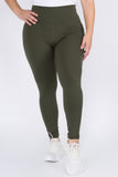 Plus Size High-Rise Essential Leggings
