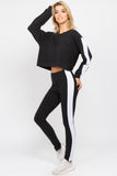 pullover sweater crop tops high rise leggings lounging athliesure brands