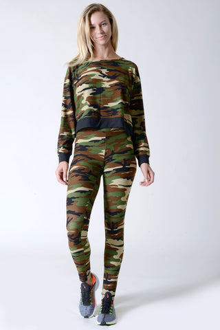 Can't Hide Camouflage Print 2-Piece Set