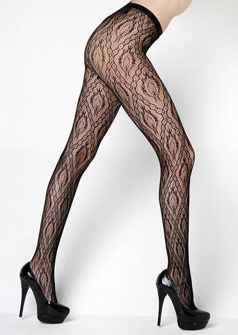 Wild Leopard Spot Fishnet Tights