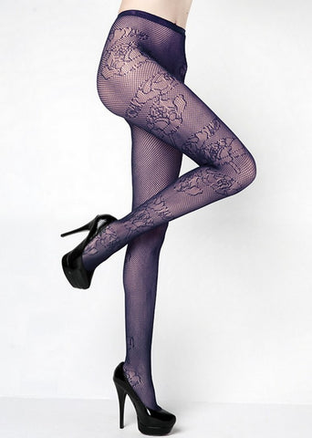 ROSE OUTLINE FISHNET
