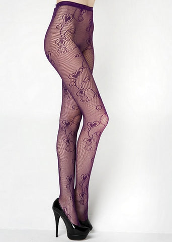 FLORAL HEARTS FISHNET